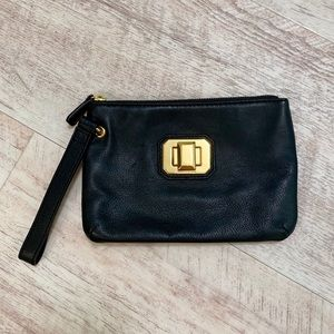 Juicy Couture Leather Latch Lock Wristlet